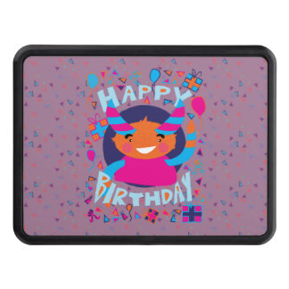 Happy Birthday Playful Monster Hitch Cover