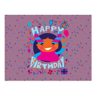 Happy Birthday Playful Monster Post Card
