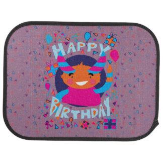 Happy Birthday Playful Monster Floor Mat