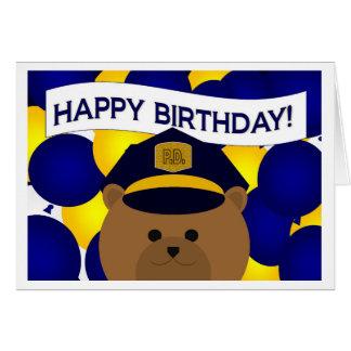 Happy Birthday Police Hero! Card