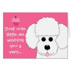 Happy Birthday! Poodle Dog Art Card