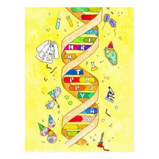 Happy Birthday postcard for science nerds