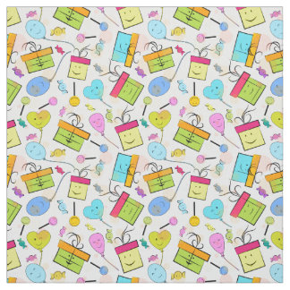 Happy Birthday Presents Pattern Fabric