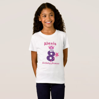 Happy Birthday Princess T-shirt 5 to 9