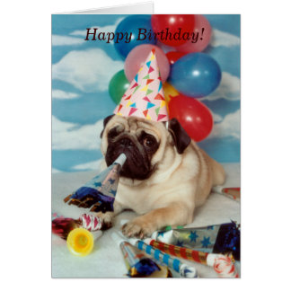 Happy Birthday Pug Card