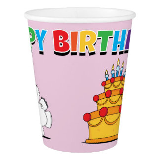 Happy Birthday Pythagoras Paper Cup
