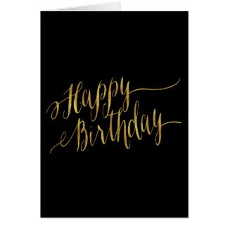 Happy Birthday Quote Gold Faux Foil Quotes Note Card