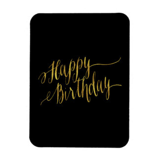 Happy Birthday Quote Gold Faux Foil Quotes Rectangular Photo Magnet