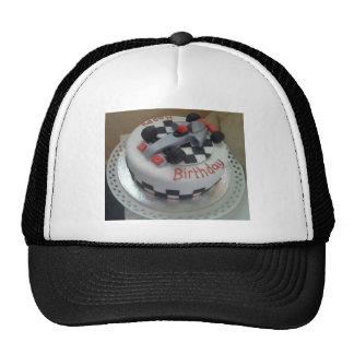 happy birthday racing car cap