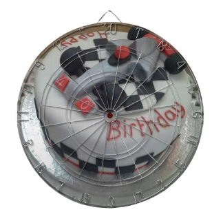 happy birthday racing car dartboard