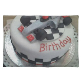 happy birthday racing car placemat