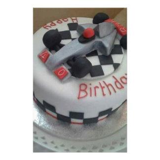 happy birthday racing car stationery