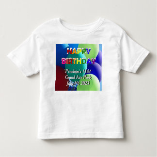 Happy Birthday Rainbow Balloon Toddler T-Shirt
