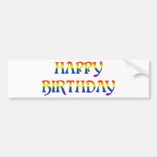 Happy Birthday Rainbow Bumper Sticker
