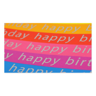 Happy Birthday Rainbow Business Card Template