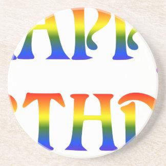 Happy Birthday Rainbow Coaster