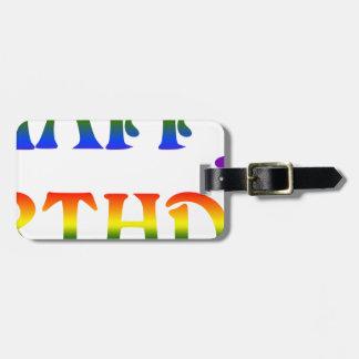 Happy Birthday Rainbow Luggage Tag