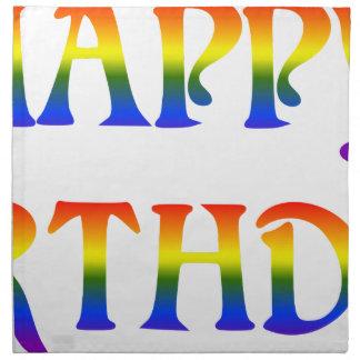 Happy Birthday Rainbow Napkin