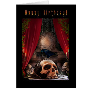 Happy Birthday - Ravens Den - Blank Note Card