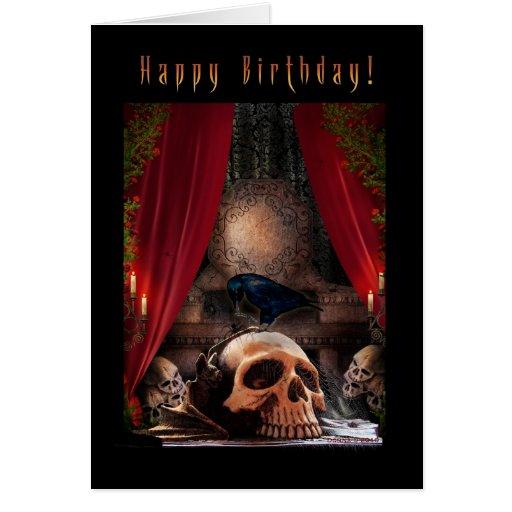Happy Birthday - Ravens Den - Blank Note Card