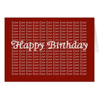 Happy Birthday Red Endless Love Card