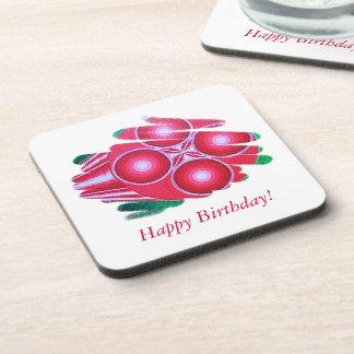 Happy Birthday Red First Chakra Vortex Coaster