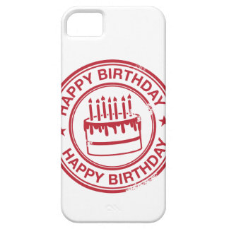 Happy Birthday -red rubber stamp effect- iPhone 5 Case
