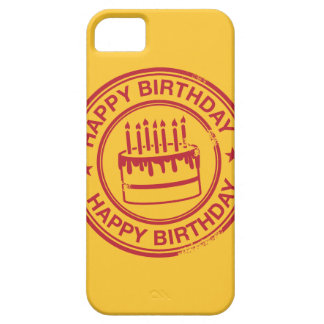 Happy Birthday -red rubber stamp effect- Case For The iPhone 5