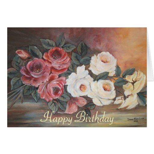 Happy birthday Rosas Card