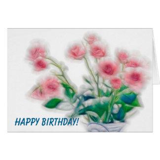 Happy Birthday Rose Bouquet Card