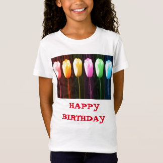 HAPPY BIRTHDAY Rose Petal n Tulip Show T-Shirt
