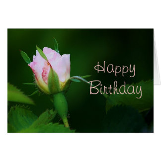 Happy Birthday Rosebud Card