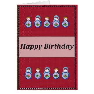Happy Birthday Russian Doll Card