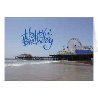 Happy Birthday Santa Monica Pier Card