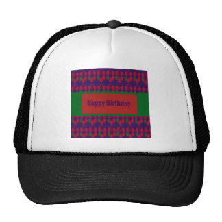 HAPPY Birthday Script Greeting Celebration Event 9 Trucker Hats