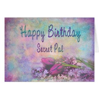 HAPPY BIRTHDAY SECRET PAL - Soft Floral Elegance Card