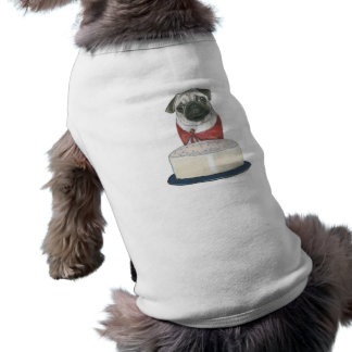 Happy Birthday Shirt for a Dog Sleeveless Dog Shirt