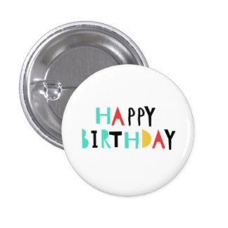 Happy Birthday simple buttons
