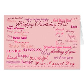"""Happy Birthday Sis!"" card"