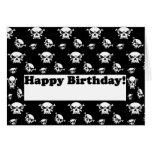 Happy Birthday Skulls Template Greeting Card