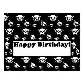 Happy Birthday Skulls Template Postcard