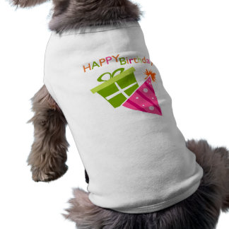 Happy Birthday Sleeveless Dog Shirt