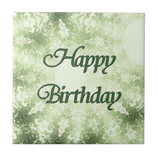 Happy Birthday Small Square Tile