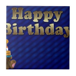 happy-birthday small square tile