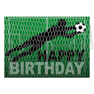 Happy Birthday Soccer Field Goal Note Card
