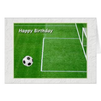 Happy Birthday Soccer Player Card