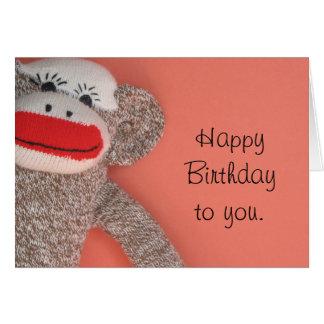 Happy Birthday Sock Monkey Card