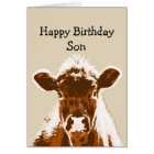 Happy Birthday Son Cow Joke Humour Card