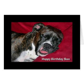 Happy Birthday Son Sleeping Boxer Card