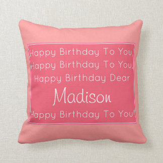 Happy Birthday Song Pillow